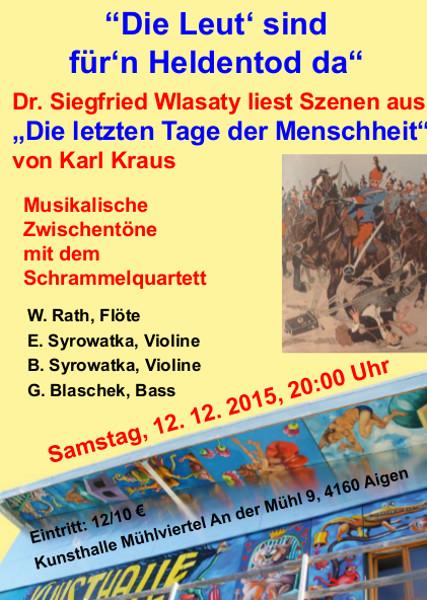 Einladung Lesung Wlasaty 2015